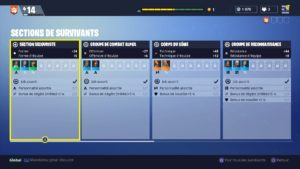 fortnite section de survivants leader gestion