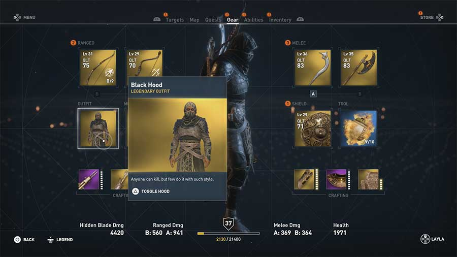 Black Hood - [Soluce] Assassin's Creed Origins - Les Tenues