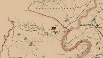 Emplacement hachette à double tranchant, Red Dead Redemption 2, soluce, map, xbox one, ps4, objets cachés, rockstar games