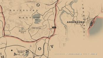 Emplacement Hachette de chasseur rouillée, Red Dead Redemption 2, soluce, map, xbox one, ps4, objets cachés, rockstar games