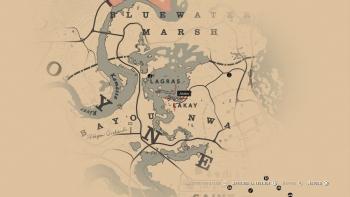 Emplacement masque crâne de félin, Red Dead Redemption 2, soluce, map, xbox one, ps4, objets cachés, rockstar games