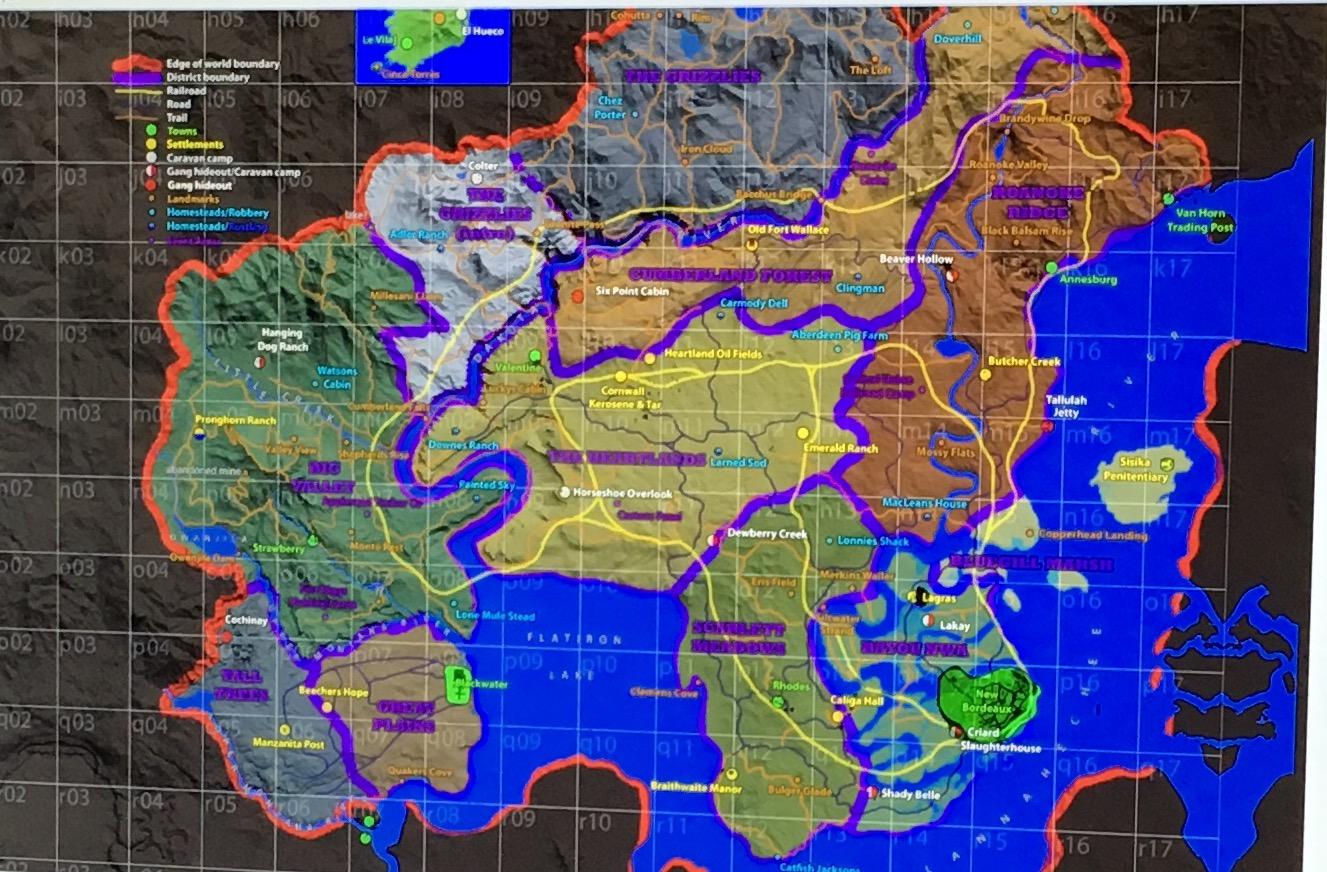 Red dead Redemption 2 MAP LEAK