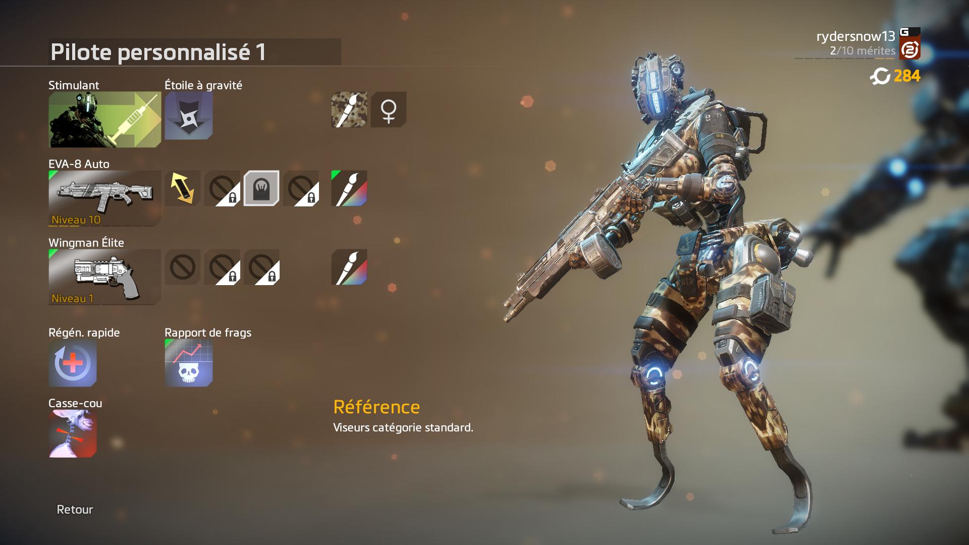 Titanfall équipement stuff EVA