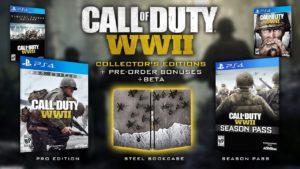 Toutes les éditions de call of duty world war 2