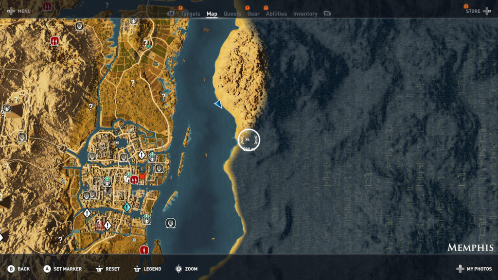Assassin's Creed Origins - Emplacement Des Énigmes Papyrus Buisson Ardent Solution