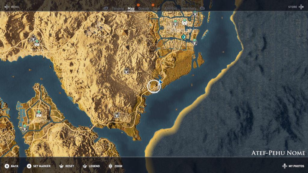 Assassin's Creed Origins - Emplacement Des Énigmes Papyrus Juste Loi Solution