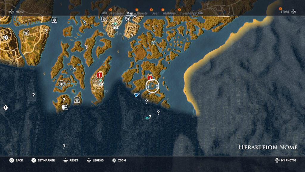 Assassin's Creed Origins - Emplacement Des Énigmes Papyrus Flore Royale