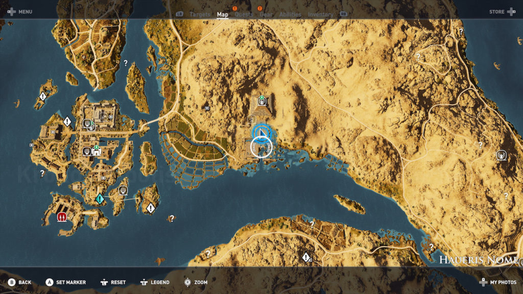 Assassin's Creed Origins - Emplacement Des Énigmes Papyrus Rage De Zobek solution