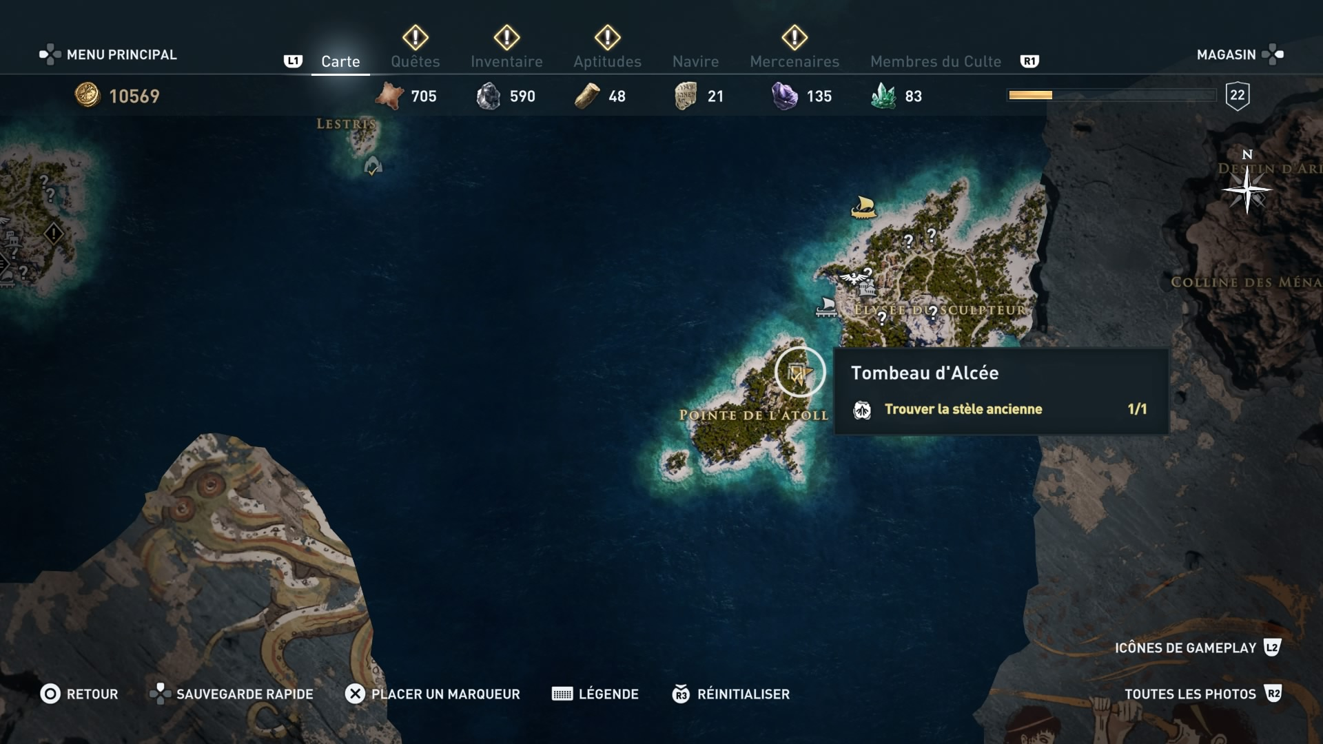 assassin's creed odyssey, ps4, xbox one, pc,u ubisosft, soluce, astuce, emplacement tombeau et stèle anciennes île de paros, tombeau d'alcée