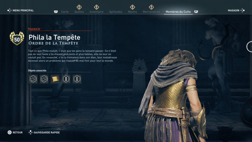 Assassin's Creed® Odyssey legacy dlc soluce tempete episode 2