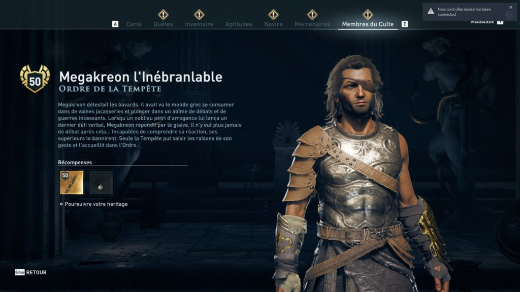 Assassin's Creed® Odyssey ordre tempete ancien heritage dlc